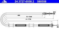 Трос ручника правый Doblo 1735/1455 / 46745155 / 46745155, 46835327