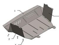 Защита двигателя Doblo 1.4/1.6/1.3 метал / 51742550 / 51742550, 51726980, 46835332, 46811206, 46745287, 51755554